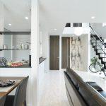 高級感のあるモダンな空間の家。デザイン性と品質を兼ね備えたモデルハウス
