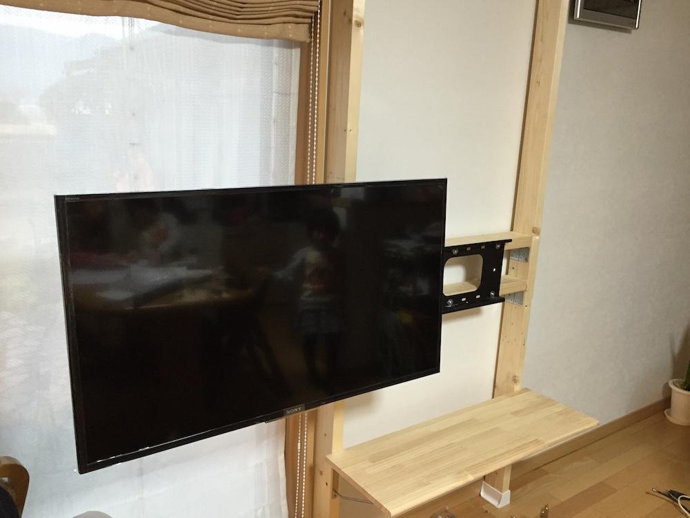 壁掛けTV-DIY-2