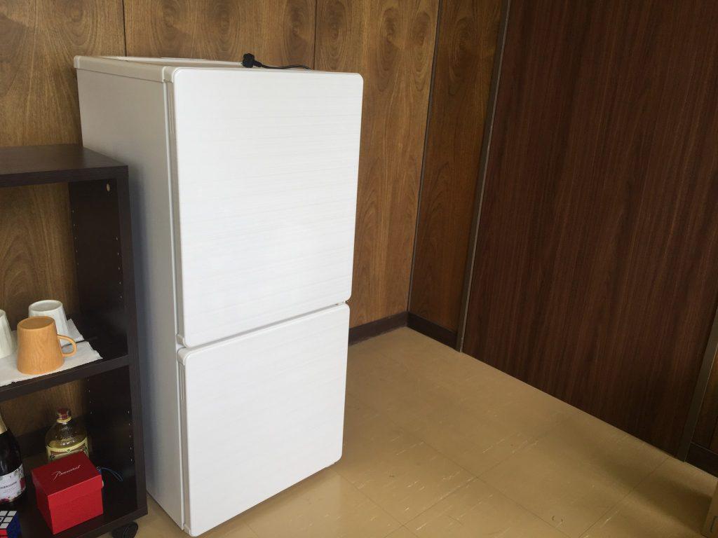 ユーイング 110L 2ドア冷蔵庫 UR-F110H-W 白
